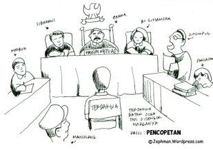 Hasil gambar untuk di sidang kartun